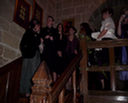 Image 2 - Waiting on the stairs to go into the Josephine Room at Langley Castle