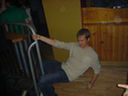 David does his pole thingy